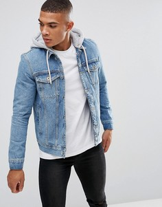 Синяя джинсовая куртка с капюшоном Kings Will Dream - Синий