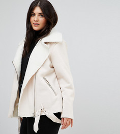 Куртка-авиатор из искусственной овечьей шерсти Alice & You - Кремовый
