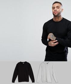 Набор из худи и свитшота черного и серого цвета ASOS, СКИДКА - Мульти