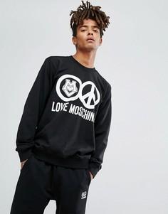 Свитшот с логотипом Love Moschino - Серый