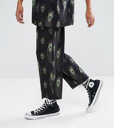 Черные свободные брюки с принтом Reclaimed Vintage Inspired - Черный