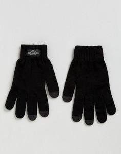 Черные трикотажные перчатки Schott - Черный