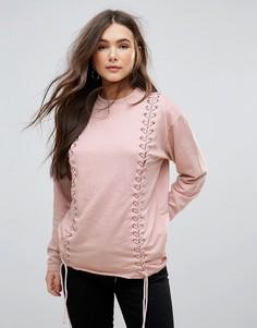 Свитшот со шнуровкой Parisian - Розовый