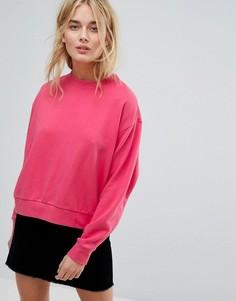 Укороченный свитшот Weekday - Розовый