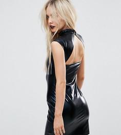 Платье мини с высоким воротом и открытой спиной ASOS PETITE HALLOWEEN - Черный