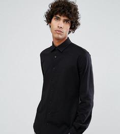 Приталенная трикотажная рубашка Noak - Черный
