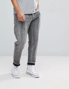 Суженные книзу укороченные джинсы Selected Homme - Серый
