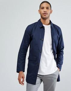 Макинтош с накладными карманами Selected Homme - Темно-синий