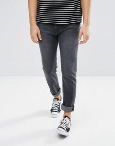 Черные рваные джинсы скинни Weekday - Черный