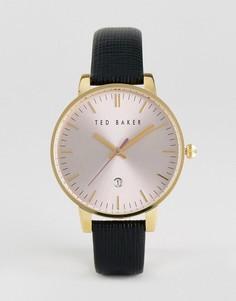 Черные часы с кожаным ремешком Ted Baker Kate - Черный