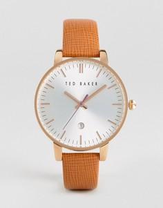 Часы со светло-коричневым кожаным ремешком Ted Baker Kate - Рыжий