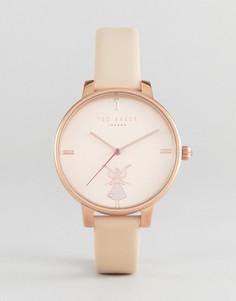 Розовые часы с кожаным ремешком Ted Baker Kate Ballerina - Розовый