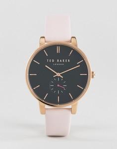 Часы с розовым кожаным ремешком Ted Baker Olivia - Розовый