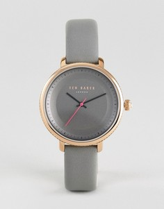 Серые часы с кожаным ремешком Ted Baker Isla - Серый