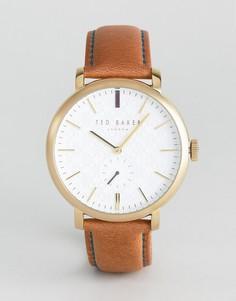 Часы с кожаным ремешком Ted Baker Trent - Рыжий