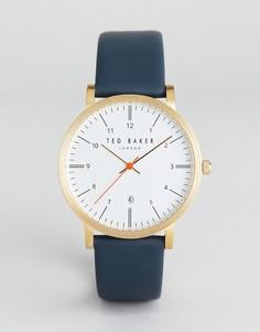 Часы с темно-синим кожаным ремешком Ted Baker Samual - Темно-синий