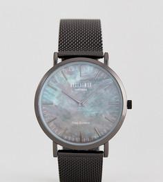 Черные часы с мраморным эффектом и сетчатым ремешком Reclaimed Vintage Inspired эксклюзивно для ASOS - Черный