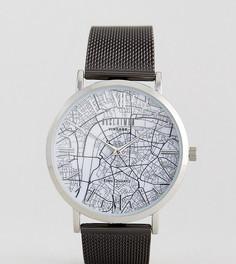 Черные часы с картой Лондона Reclaimed Vintage Inspired эксклюзивно для ASOS - Черный