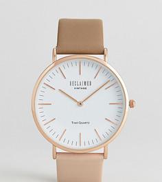 Часы с двухцветным кожаным ремешком Reclaimed Vintage Inspired эксклюзивно для ASOS - Коричневый