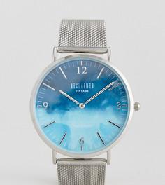 Серебристые часы с сетчатым браслетом Reclaimed Vintage Inspired эксклюзивно для ASOS - Серебряный