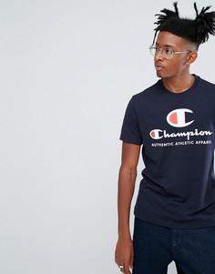 Футболка с логотипом Champion - Темно-синий