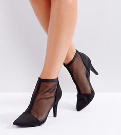 Ботинки на каблуке для широкой стопы New Look - Черный