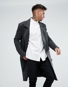Темно-серое пальто boohooMAN - Серый