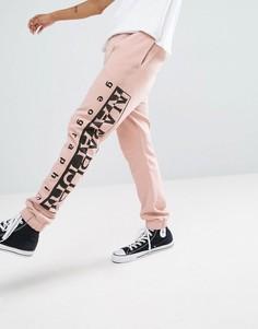 Розовые спортивные штаны с логотипом Napapijri Tier 1 - Розовый