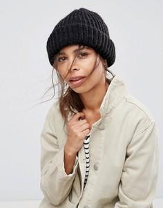 Вязаная шапка-бини Pieces - Серый