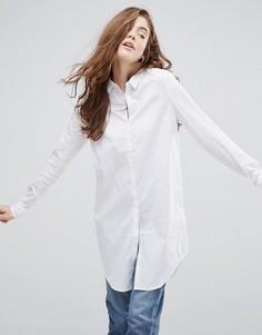 Удлиненная рубашка на пуговицах Pieces - Белый