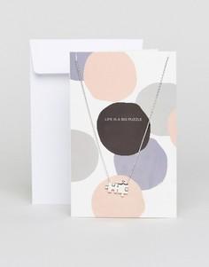 Ожерелье с подвеской Pieces - Серебряный