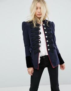 Структурированная куртка с отделкой Free People - Темно-синий