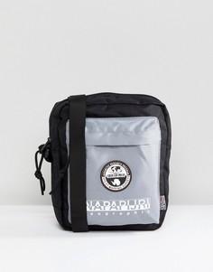 Черно-серая сумка с карманом Napapijri Happy - Белый