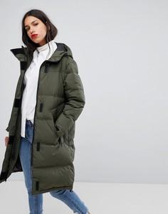 Длинное дутое пальто Selected - Зеленый