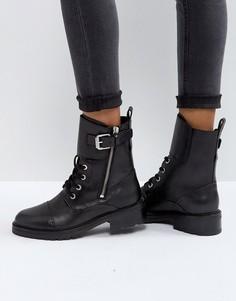 Байкерские ботинки с ремешком AllSaints Daria - Черный