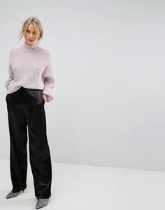 Строгие брюки с широкими штанинами Gestuz - Черный