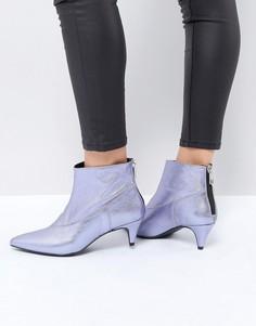 Фиолетовые ботинки с эффектом металлик Gestuz - Фиолетовый