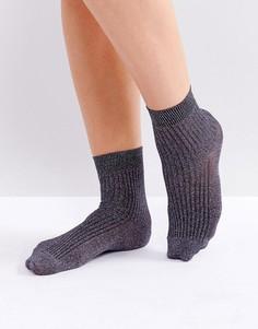 Носки с блестками Gestuz - Фиолетовый