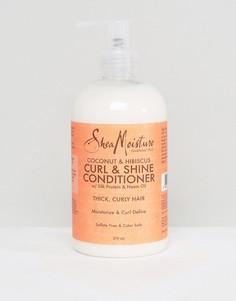 Кондиционер для волос с экстрактами кокоса и гибискуса Shea Moisture Curl & Shine - Бесцветный