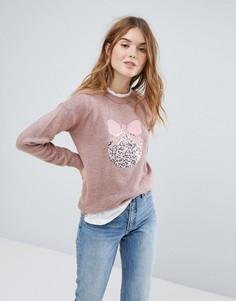 Новогодний джемпер с пайетками New Look - Розовый