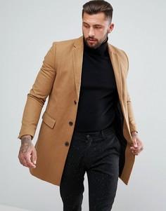 Однобортное пальто New Look - Рыжий