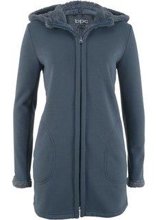 Трикотажная куртка с плюшевой подкладкой (темно-синий) Bonprix