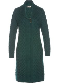 Вязаное пальто (насыщенный зеленый) Bonprix