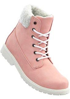 Ботинки на шнуровке (нежно-розовый/кремовый) Bonprix