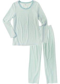 Пижама (кремовый/мятный пастельный в полоску) Bonprix