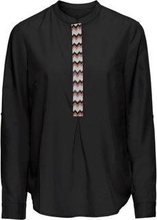 Блузка с аппликацией из бусин (черный) Bonprix