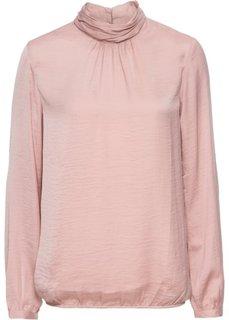 Сатиновая блузка с воротником-стойкой (винтажно-розовый) Bonprix