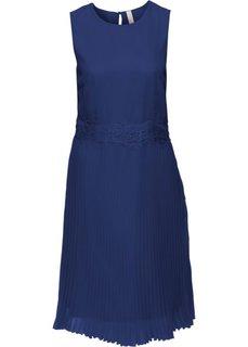 Платье с плиссированными складками (полуночная синь) Bonprix
