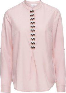 Блузка с аппликацией из бусин (розовый) Bonprix