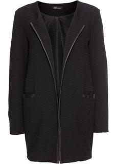 Куртка из трикотажа (черный) Bonprix